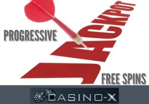 Casino-x offers progressive jackpots and free spins
